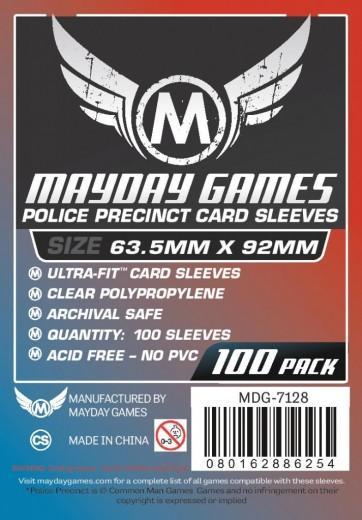 Custom Police Precinct Sleeves: 63.5mm  x  92mm  (100)