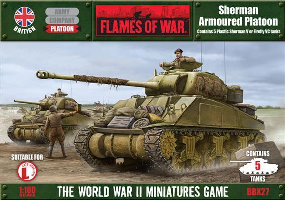 Flames Of War (WWII): (British) Sherman Armored Platoon