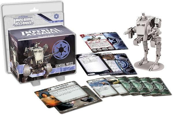 Star Wars: Imperial Assault - General Weiss Villain Pack (in AT-ST)