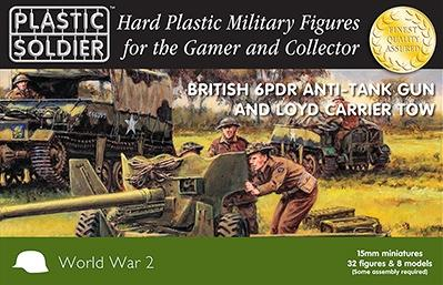 15mm WWII (British): 6 PDR Anti Tank Gun and Loyd Carrier