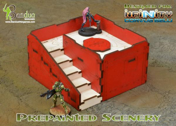 Bandua Accessories: Prepainted Q-Building Pack (Red & White)