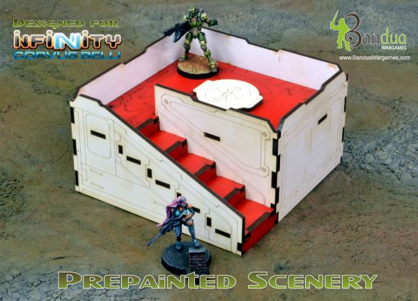 Bandua Accessories: Prepainted Q-Building Pack (White & Red)