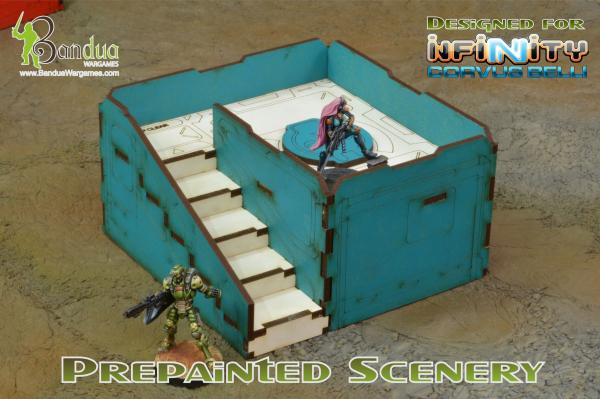 Bandua Accessories: Prepainted Q-Building Pack  (Turquoise & White)