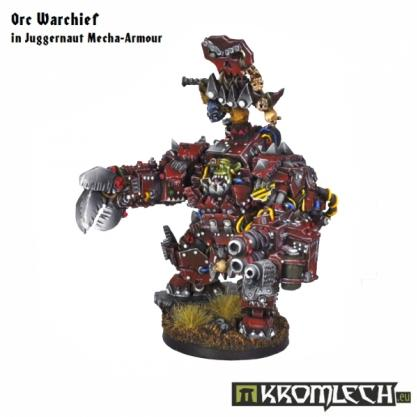Kromlech Miniatures: Orc Warchief in Juggernaut Mecha Armor