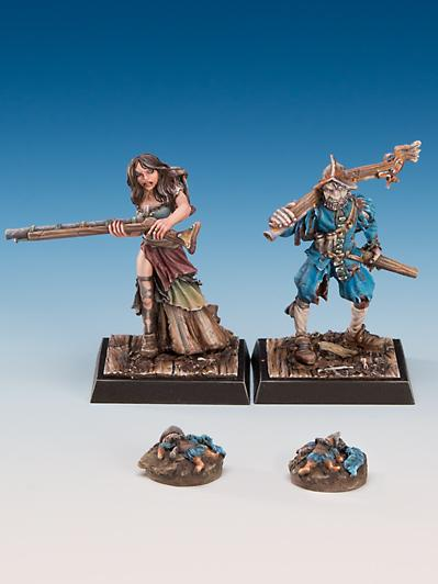 Freebooter Miniatures: Mrs. Juanhijo and Samuel