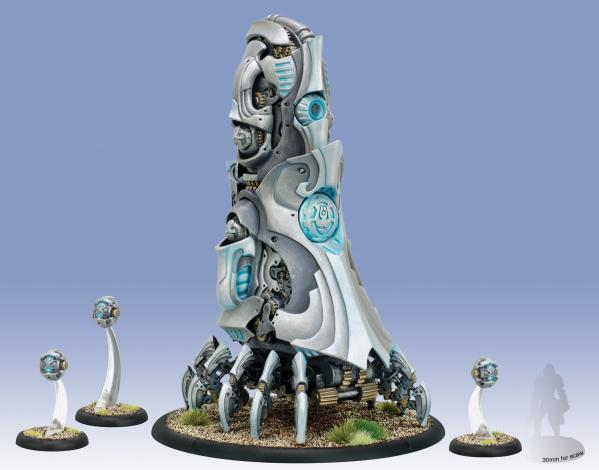 Warmachine: (Convergence Of Cyriss) Transfinite Emergence Projector & Permutation Servitors