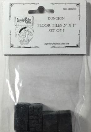 Dungeon Floor Tile (.5'' x 1'' Set of 5)