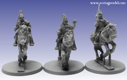 Grendel Metal Figures: Northmen Cavalry with Sword II