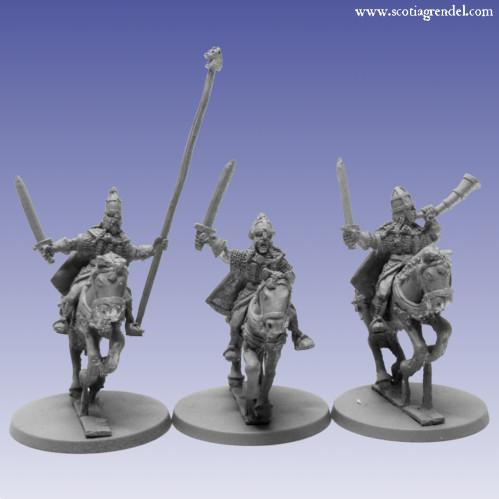 Grendel Metal Figures: Northmen Cavalry Command