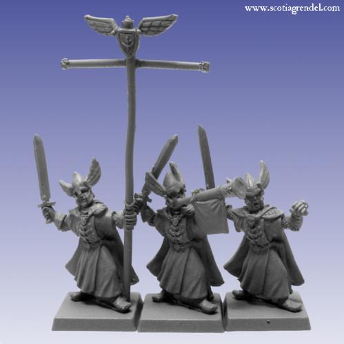 Grendel Metal Figures: Western Swordmen Command
