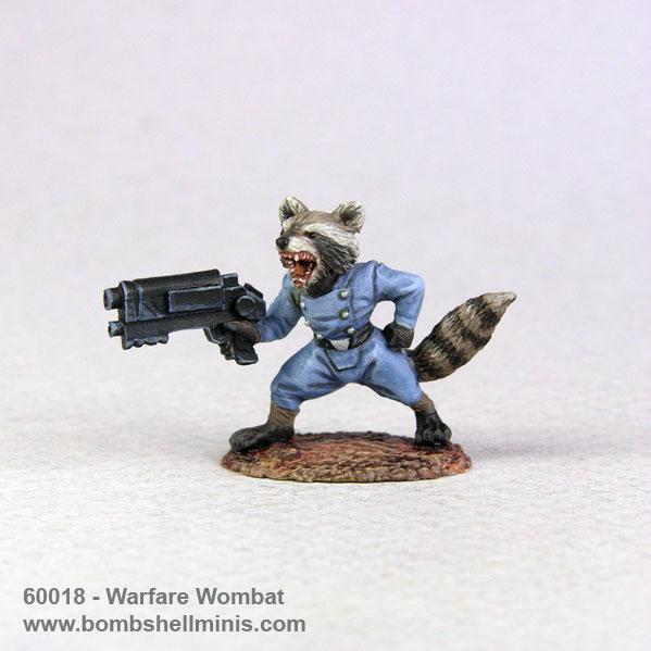 Bombshell Miniatures: Sidekicks - Warfare Wombat