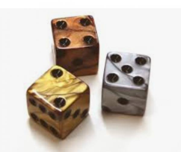 Dice Loose Singles: Assorted Olympic Random d6 16mm (1)