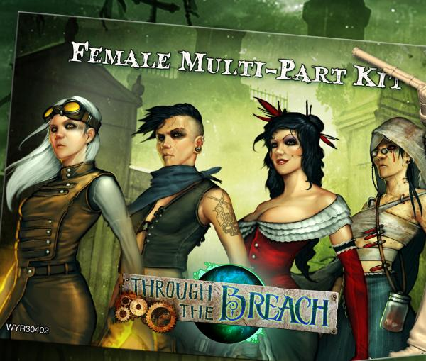 Through The Breach RPG: Female Multi-Pose Figures