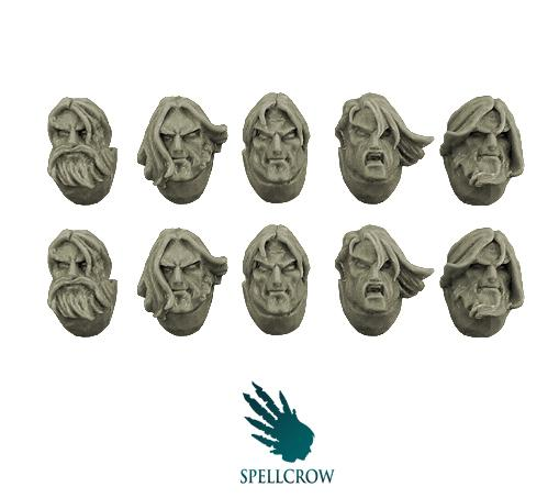 28mm Sci-Fi -  Space Knights: Heads with Long Hair