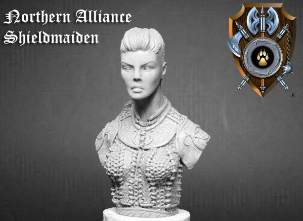 28mm Shieldwolf - Busts: Shieldmaiden