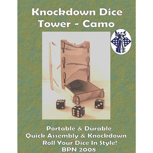 Knockdown Camo Dice Tower