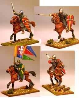 28mm Ancients: (Viking Age) Norman/Breton Milites Command (4)