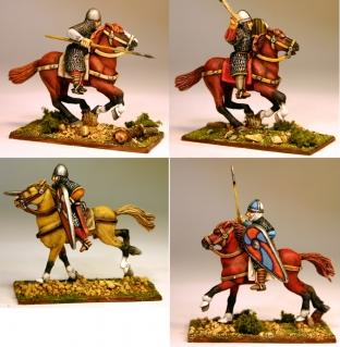 28mm Ancients: (Viking Age) Norman/Breton Milites (Mixed Pose) (4)