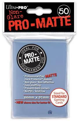 Ultra-Pro: Pro-Matte Clear Deck Protector (50ct)