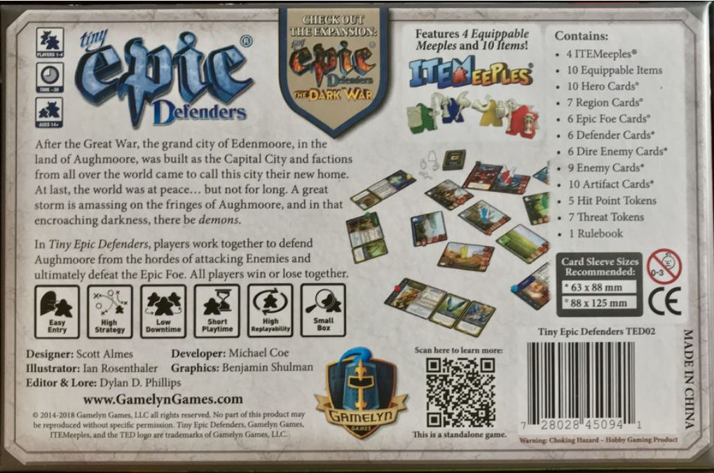 Tiny Epic Defenders: Core Game (2nd Edition)