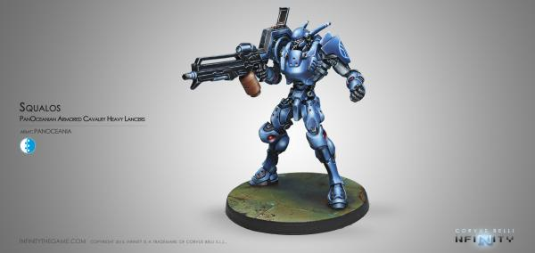 Infinity (#507) PanOceania: Squalo. Armored Heavy Lancers of the Armored Cavalry