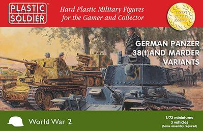 20mm WWII German - 1/72nd Panzer 38T and Marder options