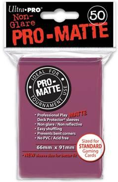 Ultra-Pro: Pro-Matte Blackberry Deck Protector (50ct)