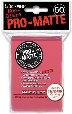Ultra-Pro: Pro-Matte Fuchsia Deck Protector (50ct)