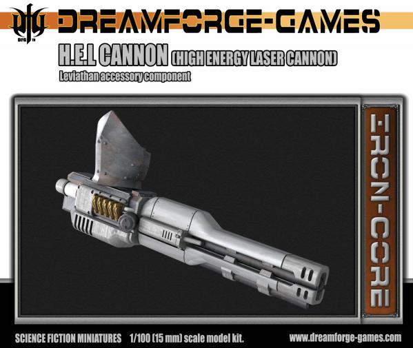 HEL Cannon Leviathan Weapon -15mm Leviathan Accessory Weapon