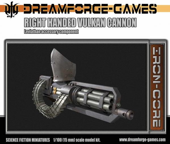 Leviathan Right Handed Vulkcan Cannon- 15mm Leviathan  Accessory Weapon