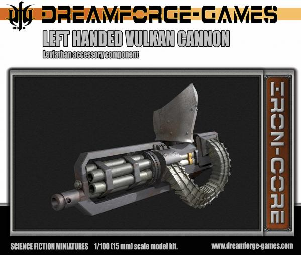 Leviathan Left Handed Vulkcan Cannon- 15mm Leviathan  Accessory Weapon
