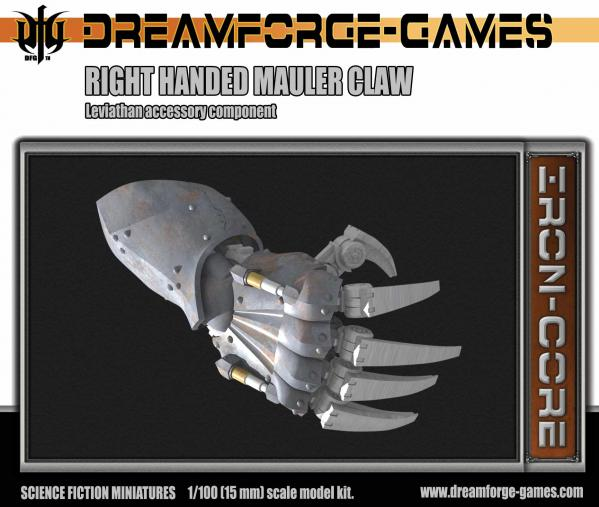 Mauler Claw Leviathan Right Handed- 15mm Leviathan Accessory Weapon