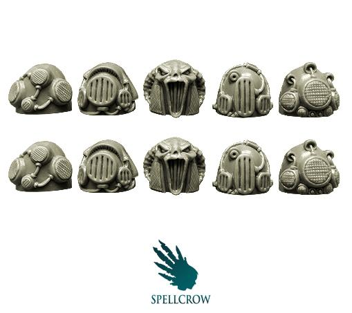 28mm Sci-Fi -  Space Knights: Sonic/Steam Shoulder Pads