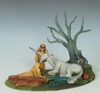 Stephanie Law Masterworks: The Seduction, Maiden w/Unicorn Diorama