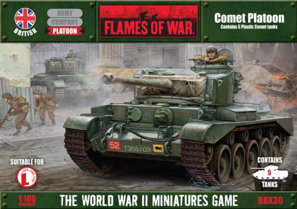 Flames Of War (WWII): (British) Comet Platoon (Plastic)