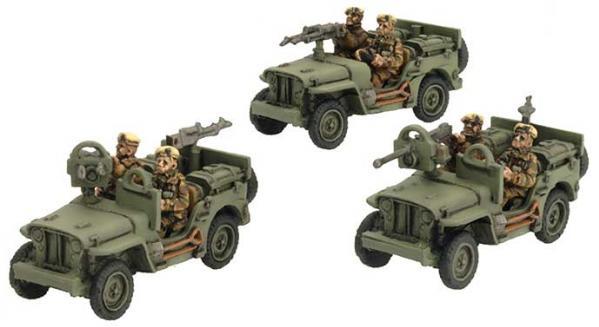 Flames of War: SAS Jeep (Europe) (x3)