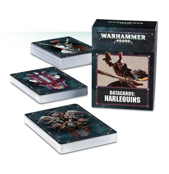 Warhammer 40K: Harlequins Datacards (2018)