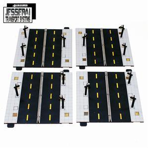 10mm Standard Terrain: Jesserai Transport Systems: 4x Straight Roads