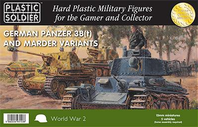 15mm WWII - German: Panzer 38T with Marder options