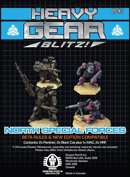Heavy Gear: Northern Special Forces Squad (4 minis: 2xPanther, 2xBlackCat)
