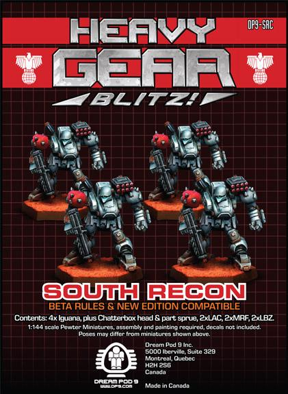 Heavy Gear: Southern Recon Squad (4 minis: 4xIguana)