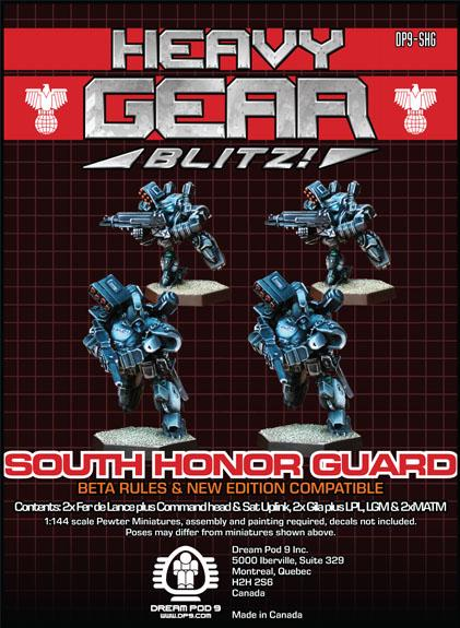 Heavy Gear: Southern Honor Guard Squad (4 minis: 2xGila, 2xFerDeLance)