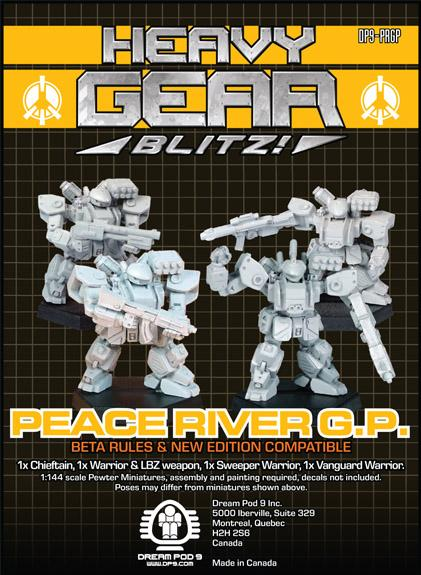 Heavy Gear: P.R.D.F. G.P. Squad (4 minis: 4xWarrior)