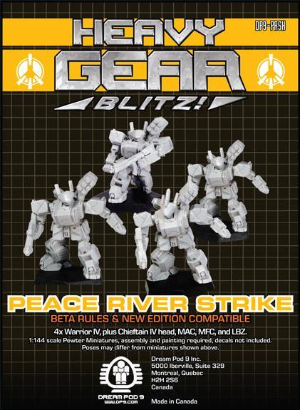 Heavy Gear: P.R.D.F. Strike Squad (4 minis: 4xWarriorIV)
