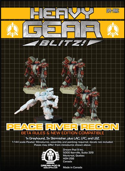 Heavy Gear: P.R.D.F. Recon Squad (4 minis: 3xSkirmisher, 1xGreyhound)