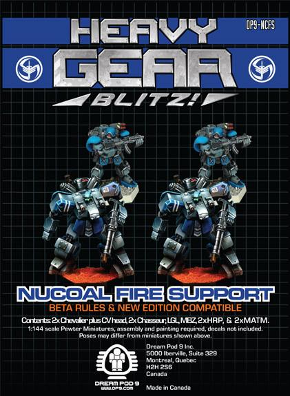 Heavy Gear Blitz! - NuCoal Fire Support Squad (4 minis: 2xChasseur, 2xChevalier)