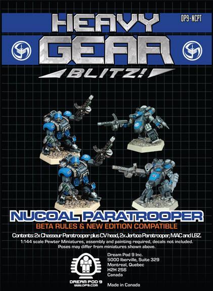Heavy Gear Blitz! - NuCoal Paratrooper Squad (4 minis: 2xChasseurParatrooper, 2xJerboaParatrooper)
