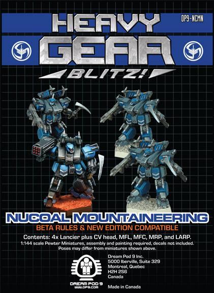 Heavy Gear Blitz! - NuCoal Mountaineering Squad (4 minis: 4xLancier)