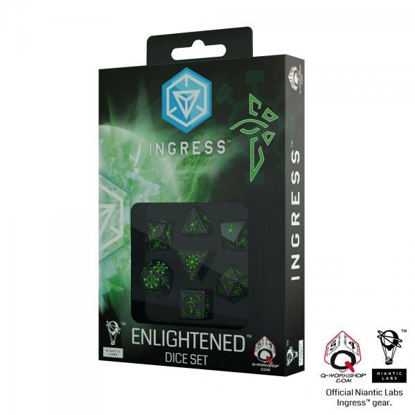 Ingress Dice Set: Enlightened (7)