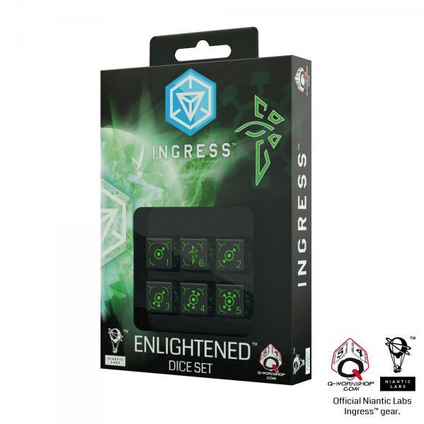Ingress 6D6 Dice Set: Enlightened (6)